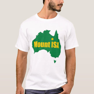 Mount Isa Green and Gold Map T-Shirt