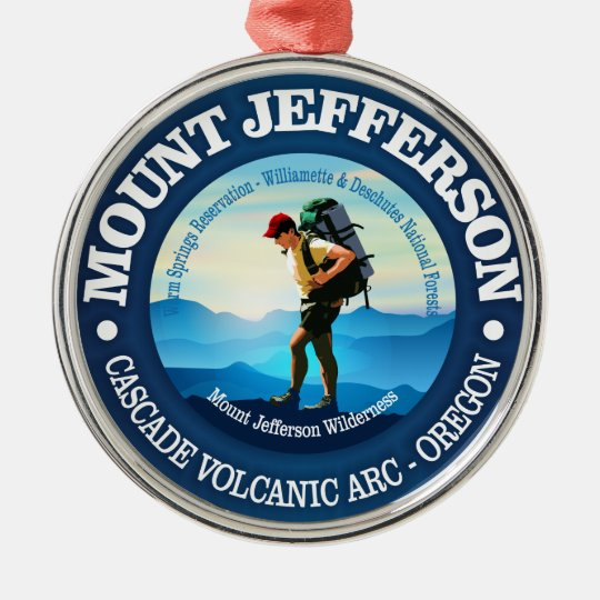 Mount Jefferson (Hiker C) Metal Ornament