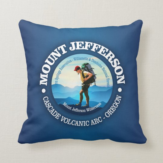 Mount Jefferson (Hiker C) Throw Pillow