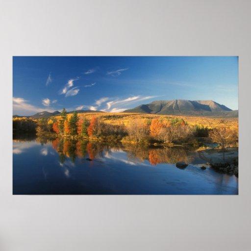 Mount Katahdin and Longfellow Mountains Autumn Posters