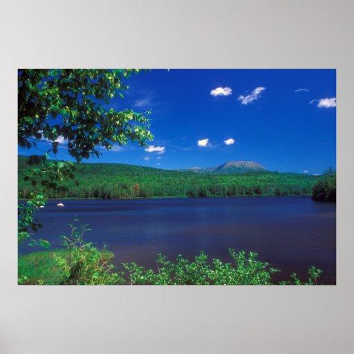 Mount Katahdin and Penobscot River Horserace Brook Poster