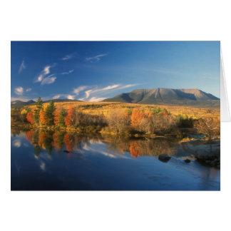 Mount Katahdin Autumn Card