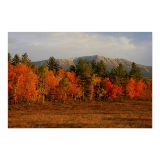 Mount Katahdin Autumn Morning Posters