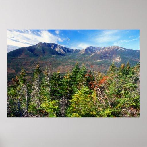 Mount Katahdin from South Turner Mountain Print