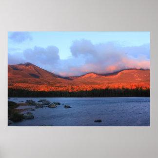 Mount Katahdin Sunrise Poster