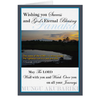 Mount Kenya Sunrise Success Card