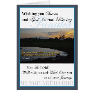 Mount Kenya Sunrise Success Greeting Card