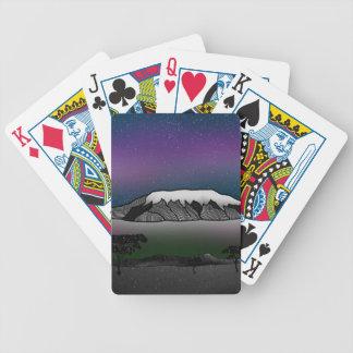 Mount Kilimanjaro illustration Bicycle Playing Cards