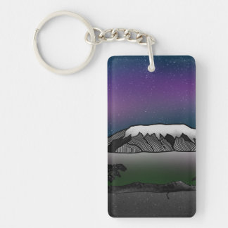 Mount Kilimanjaro illustration Keychain