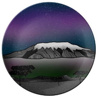 Mount Kilimanjaro illustration Plate