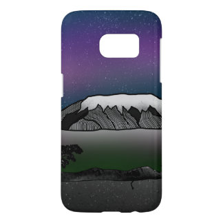 Mount Kilimanjaro illustration Samsung Galaxy S7 Case