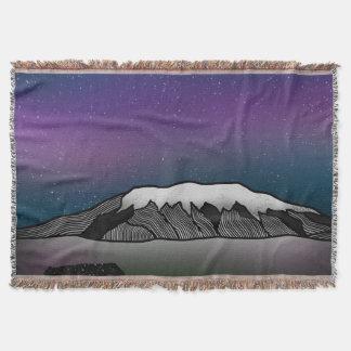 Mount Kilimanjaro illustration Throw Blanket