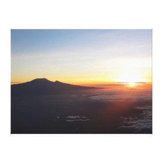 Mount Kilimanjaro sunrise Canvas Print