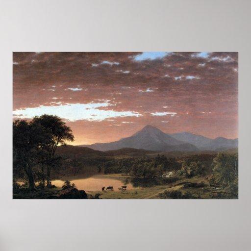 Mount Ktaadn (Katahdin) by Frederic Edwin Church Posters