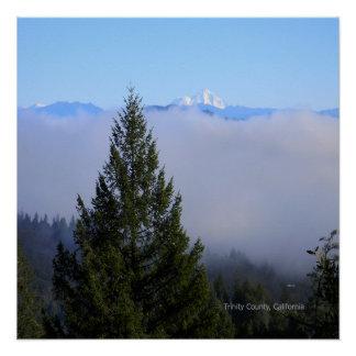 Mount Lassen in the fog... Poster