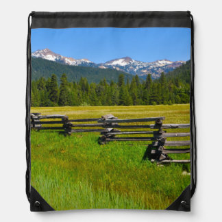 Mount Lassen National Park in California Drawstring Bag