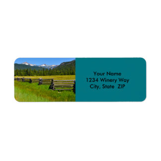 Mount Lassen National Park in California Return Address Label