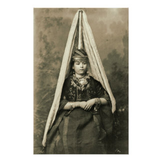 Mount Lebanon Druse Bride 1910 Poster