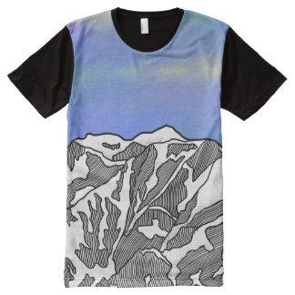 Mount Logan illustration All-Over-Print T-Shirt