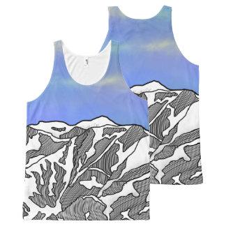 Mount Logan illustration All-Over-Print Tank Top