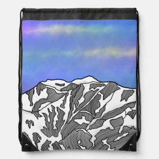 Mount Logan illustration Drawstring Bag
