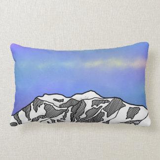 Mount Logan illustration Lumbar Pillow