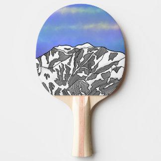 Mount Logan illustration Ping Pong Paddle