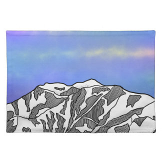 Mount Logan illustration Placemat