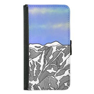 Mount Logan illustration Samsung Galaxy S5 Wallet Case