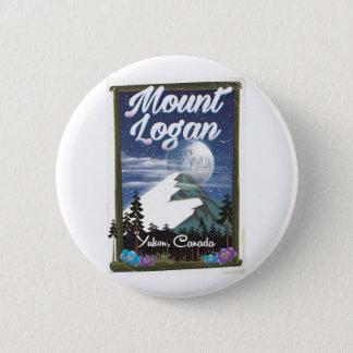 Mount Logan , Yukon, Canada 2 Inch Round Button