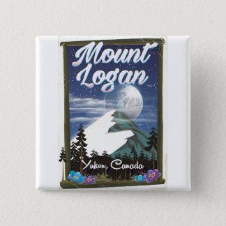 Mount Logan , Yukon, Canada 2 Inch Square Button
