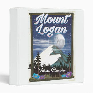Mount Logan , Yukon, Canada 3 Ring Binder