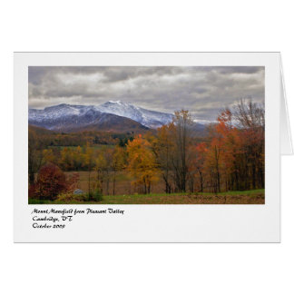 Mount Mansfield from Pleasant Vall... Card