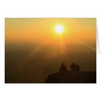 Mount Monadnock Hikers Sunset Card