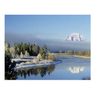 Mount Moran and String Lake in Grand Teton Postcard