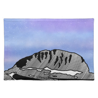 Mount Olympus Greece Illustration Placemat