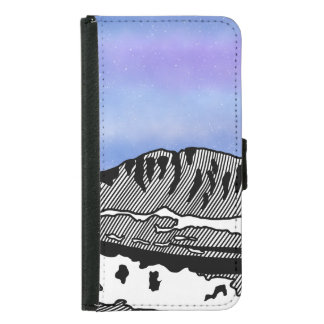 Mount Olympus Greece Illustration Samsung Galaxy S5 Wallet Case