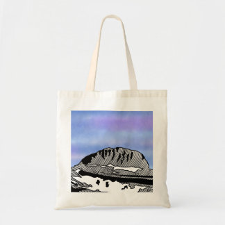 Mount Olympus Greece Illustration Tote Bag