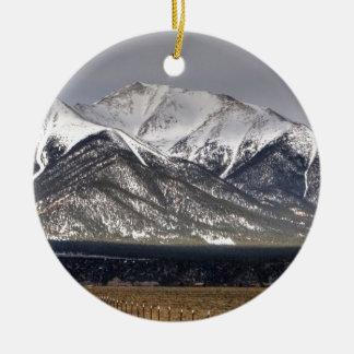 Mount Princeton Ceramic Ornament