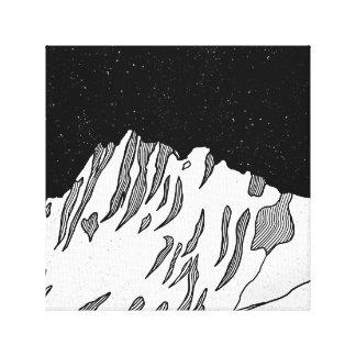 Mount Puncak Jaya black and white Canvas Print