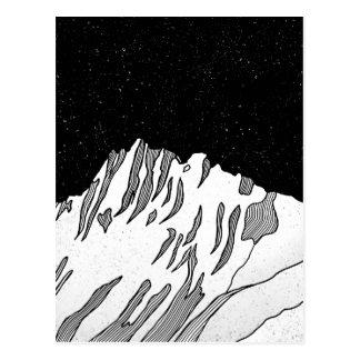 Mount Puncak Jaya black and white Postcard