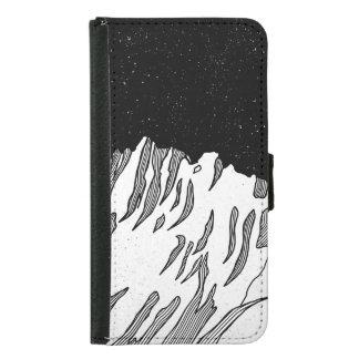 Mount Puncak Jaya black and white Samsung Galaxy S5 Wallet Case