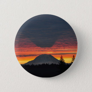 Mount Rainier and it's Shadow 2 Inch Round Button