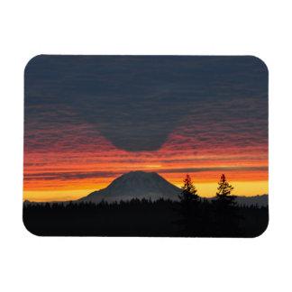 Mount Rainier and its Shadow Rectangular Photo Magnet