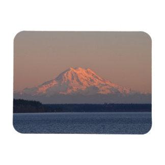 Mount Rainier and Nisqually Reach Rectangular Photo Magnet