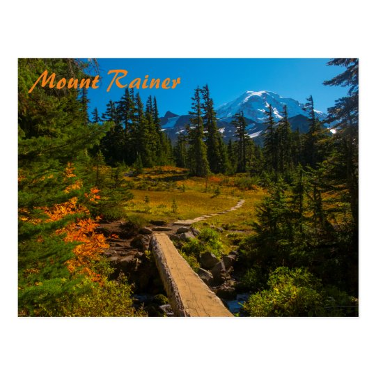 Mount Rainier Autumn Postcard