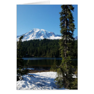 Mount Rainier Blank Greeting Card