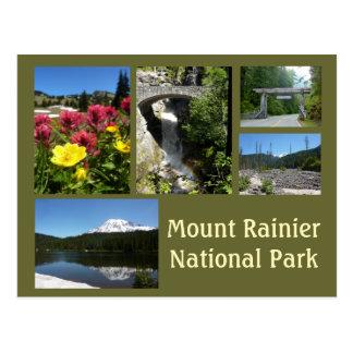 Mount Rainier Collage (Reflection Lake & Falls) Postcard