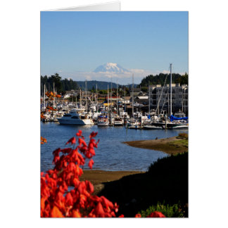 Mount Rainier from Gig Harbor, WA Card