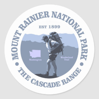 Mount Rainier National Park Classic Round Sticker